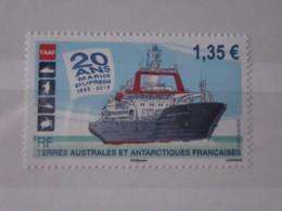 TAAF Timbre NEUF 2015 Bateau Navire 20 ANS Marion Dufresne 1995-2015 Bleu 1.35 - Neufs