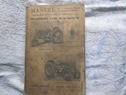 Manuel De Tracteur Case De La Serie B - Bricolage / Technique