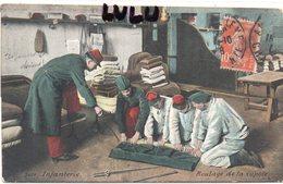 MILITARIA 323 : Infanterie Roulage De La Capote ; édit. L V & Cie N° 3601 ; Aqua Photo Paris - Equipment
