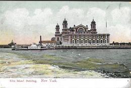 Ellis Island Building  NewYork Post Card 1909 - Ellis Island