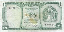 Malta 1 Lira 1967 Pick 31c Ref 1 - Malta
