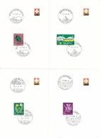 4 PTT Faltblätter Mit K-Stempel - PFÄFFIKON (ZH), ZERMATT, MURALTO, ST. URSANNE - Marcophilie