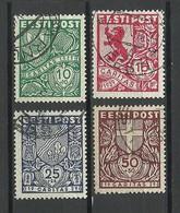 Estland Estonia 1939 Caritas Michel 142 - 145 O - Estonie