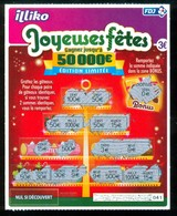 Grattage FDJ - FRANCAISE DES JEUX - JOYEUSES FETES 56601 - Billets De Loterie