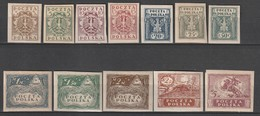 POLOGNE - N°147/158 * (1919) Pologne Du Nord - Unused Stamps