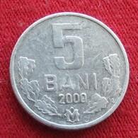 Moldova 5 Bani 2000 KM# 2  Moldavia Moldavie - Moldova