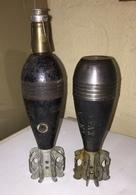 Ww2 Indochine 1945 Lot 2 Obus Mortier 60 Mm Français Inertes - 1939-45