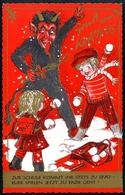 AK Krampus _HH, GRUSS Vom, Spielen Ist Jetzt Zu Ende! Kinder, Schneeballschlacht - Feiern & Feste