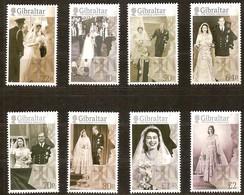 Gibraltar 2017 Micheln°  1781-1788 *** MNH  70e Anniversaire Marriage Reine Elizabeth - Gibraltar