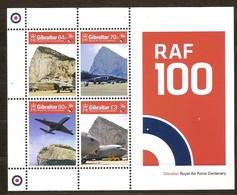 Gibraltar 2018 Micheln° Bloc 132 *** MNH  RAF Avions Airplanes Vliegtuigen - Gibraltar