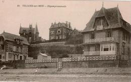 Cpa 14 VILLERS-sur-MER  Digue-promenade , Villas , Dos Vierge - Villers Sur Mer