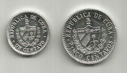 Republica De Cuba. Cinco Centavos 2016. Un Centavo 2014. - Cuba