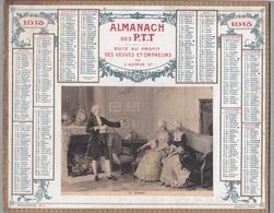 """CALENDRIER 1915 - ALMANACH DES PTT édité Au Profit Des Veuves Et Orphelins De L'Administration  """"Le Sonnet"""" MAZERAND - Calendriers"""