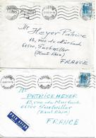 ROMANIA 1972-1973 Two Covers Posted 1 Stamp Each COVER USED - 1948-.... Républiques