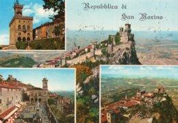 CPSM   REPUBLICA DI SAN MARINO---multi-vues--TIMBRE Y ET T N° 81-811-812-813-756 - Saint-Marin
