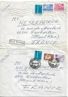 ROMANIA 1977-1979 Two Covers Posted 3 Stamps Each COVER USED - 1948-.... Républiques