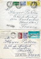 ROMANIA 1979 Two Covers Posted 7 Stamps COVER USED - 1948-.... Républiques