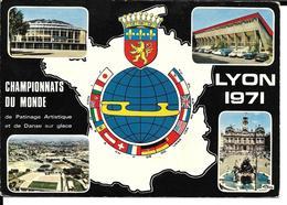 PATINAGE ARTISTIQUE WORLD CHAMPIONSHIP FIGURE SKATING - CHAMPIONNATS DU MONDE LYON 1971 - PATINOIRE STADE GERLAND - Sports D'hiver