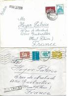 ROMANIA 1979-1981 Two Covers Posted 6 Stamps COVER USED - 1948-.... Républiques