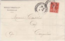 FACTURE NOILLY-PRAT MARSEILLE 1909 - POUR CASTELBIEL CAFE A CAZAUBON GERS - 1900 – 1949