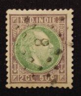 Ned.Indië - Nr. 16F Met Puntstempel 8 - Niederländisch-Indien