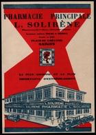PUBLICITE 1930  --  SAIGON  PHARMACIE PRINCIPALE SOLIRENE INDOCHINE  7A133* - Old Paper
