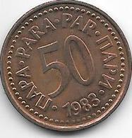Yogoslavia  50 Para  1983 KM 85    Unc !! - Yougoslavie