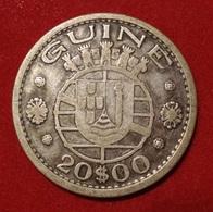 GUINEE 20 ESCUDOS 1952. ARGENT. SILVER. GUINEA. PORTUGAL. - Guinée