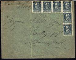 ALLEMAGNE - BAYERN - 1917 - Affranchissement N° 115 Surchargé X 6 Sur Enveloppe De Aach Pour L... B/TB - - Bavière
