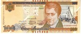 Honduras P.102 100 Lemprias 2014 Unc - Honduras