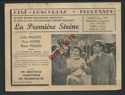 Affichette Cinema Concordia Florenne (Namur) SADKO Et La Première Sirène. 2 Scans. - Vieux Papiers