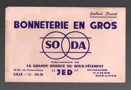 """Buvard Bonneterie En Ros SODA La Grande Marque Du Sous-vêtement """"JED"""" - Textile & Clothing"""