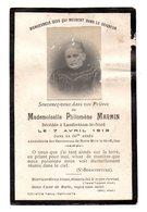 Faire Part De Décés De  Melle Philomène Marmin Décédée à Landrethun-le-Nord Le 7 Avril 1918 Dans Sa 66eme Année - Obituary Notices