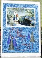 Santa Christmas New Year USSR Style 60th Postcard Rover Terrain Vehicle 1967 Xmas Tree - Santa Claus