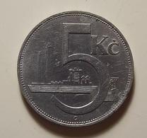Czechoslovakia 5 Korun 1938 - Tchécoslovaquie