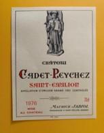 9522 - Château Cadet-Peychez 1976 Saint-Emilion - Bordeaux