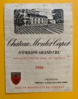 9525 - Château Monlot Capet 1966 Saint-Emilion - Bordeaux