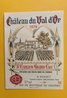 9526 - Château Du Val D'Or 1974 Saint-Emilion - Bordeaux