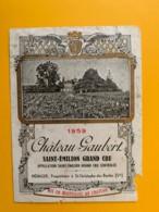 9530 - Château Gaubert 1959 Saint-Emilion  Endommagée - Bordeaux