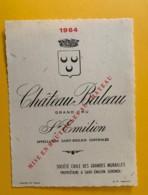 9539 - Château Baleau 1964 Saint-Emilion - Bordeaux
