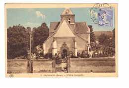 51 Matougues Eglise Paroissiale Cachet Ambulant Convoyeur Epernay à Chateau Thierry 1933 - Autres Communes