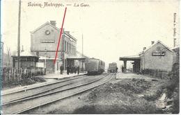 ROISIN - AUTREPPE - Honnelles -  Hauts-Pays - La Gare - Trains - 1909 - Animée - Etat Voir Scan - Honnelles