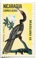Lote C1172-8, Nicaragua, 1989, Sello, Stamp, 7 V, Ave, Bird, Brasiliana '89, Aves - Nicaragua