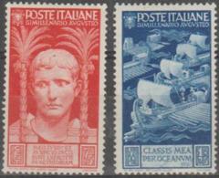 ITALY - 1937 75c, 1.25L Caesar. Scott 383, 384. Mint * - Nuevos