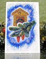 Cuckoo Clock Xmas Tree Christmas New Year USSR Postcard - New Year