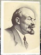 Vladimir Lenin. Engraving From Vasilyev's Drawing USSR Postcard - Russia