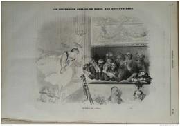 1856  GUSTAVE DORÉ - LES DIFFÉRENTS PUBLICS DE PARIS - LES COURSES Par MARCELIN - JOURNAL AMUSANT - 1850 - 1899
