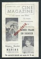 Liège Au Caméo. Affichette Cine Magazine.Brigitte Bardot, Fernandel,Remu, S. Loren, A. Perkins...3 Scans. - Affiches