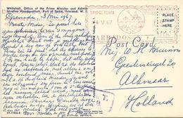 """Barbados 1967 Bridgetown Meter Universal """"MultiValue"""" U7 With DA COSTA & Co Slogan OAT Handstamp Viewcard. Rare - Barbados (1966-...)"""