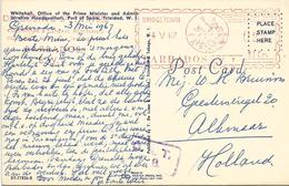 "Barbados 1967 Bridgetown Meter Universal ""MultiValue"" U7 With DA COSTA & Co Slogan OAT Handstamp Viewcard. Rare - Barbades (1966-...)"
